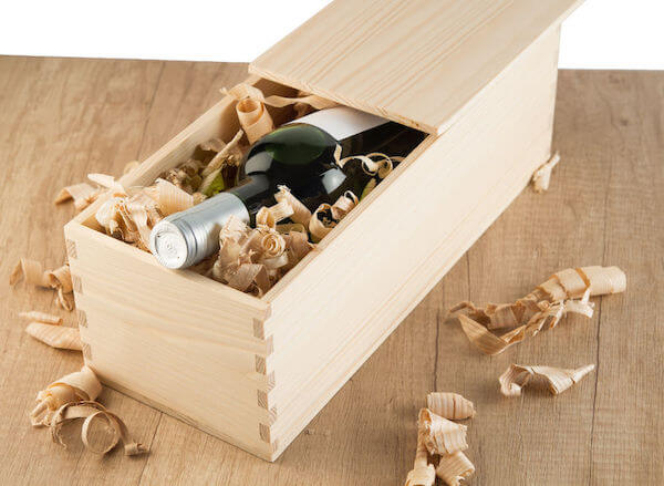 wine bottle in a wooden box- wine ceremony - wooden box for wine ceremony - wedding ceremony - unique wedding ceremony ideas