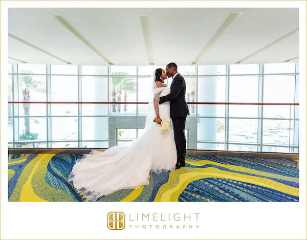 Opal Sands Resort - first look - bride and groom - bride - groom - Clearwater Beach wedding - First Kiss