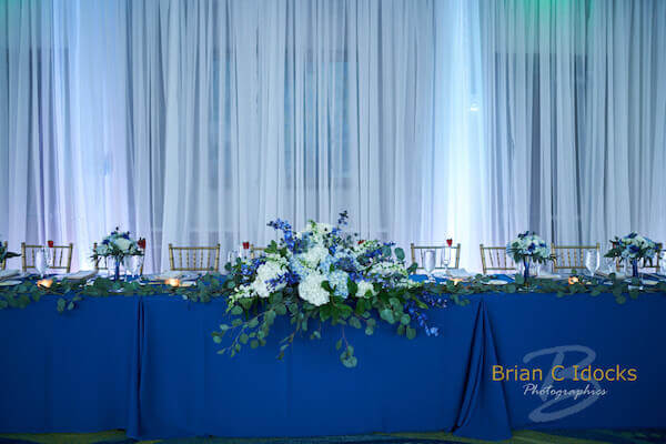 Opal Sands Resort - Clearwater Beach Weddings - blue linen - Pantone Color of the Year 2020 - Classic Blue