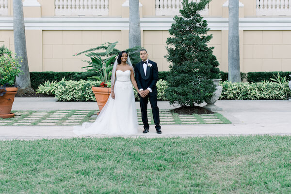 Rochelle and Che's wedding - bride and groom - Ritz Carlton - Ritz Carlton wedding - Ritz Carlton Sarasota - Ritz Carlton Sarasota wedding - Sarasota wedding - Sarasota black tie wedding