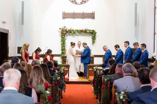 Special Moments Event Planning – Tampa Wedding – Tampa Wedding Planner - Henderson Chapel - Henderson Chapel wedding ceremony - bride and groom - bride e and groom exchanging wedding vows