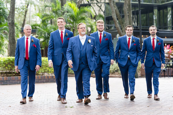 Special Moments Event Planning – Tampa Wedding – Tampa Wedding Planner - groom in blue suit - groom with groomsmen