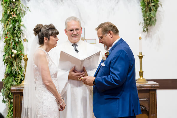 Special Moments Event Planning – Tampa Wedding – Tampa Wedding Planner - Henderson Chapel - Henderson Chapel wedding ceremony - bride and groom - bride and groom exchanging wedding vows