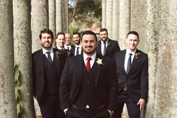 Bradenton wedding – Palma Sola Botanical Park wedding - Special Moments Event Planning - groom with groomsmen- groom with wedding party