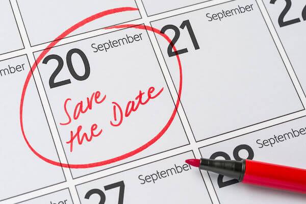 Save The Date - Wedding Planning - Florida wedding planner - Tampa wedding planner - Save the date on a calendar