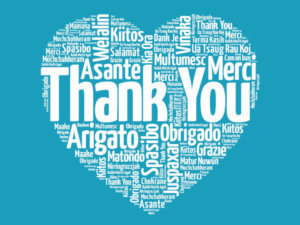 Heart with Thank You in many languages - Special Moments Event Planning. - Tampa weddings - Tampa wedding planner - Amazing Tampa wedding professionals. - working together during the COVID pandemic - wedding professionals working together during the COVID crisis