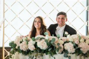 Tampa wedding - Tampa wedding reception - Rusty Pelican Restaurant wedding reception - bride and groom -