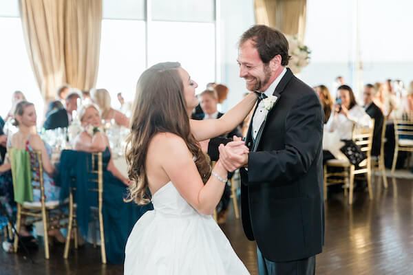 Tampa wedding - Tampa wedding reception - Rusty Pelican Restaurant wedding reception - bride and father - father daughter dance
