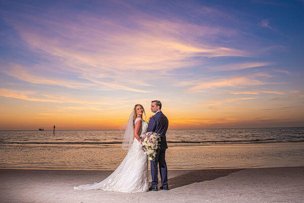 Special moments Event Planning x- Clearwater Beach wedding - Clearwater Beach wedding planner - Sandpearl Resort wedding - bride and groom on beach - bride and groom on Clearwater Beach - bride and groom at sunset on Clearwater Beach