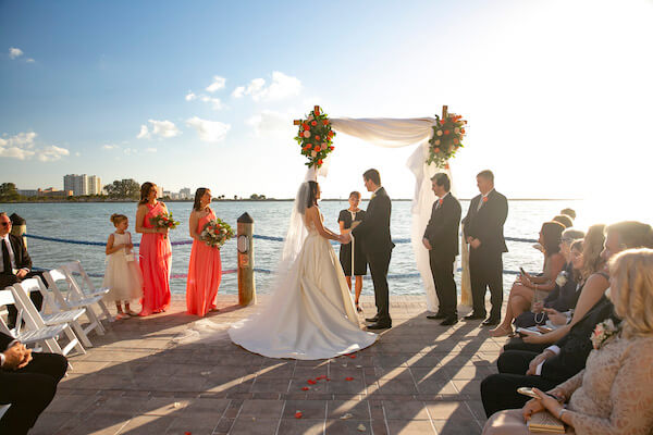 Clearwater Beach Wedding - Holiday inn and Suite Clearwater beach - Special Moments Event Planning - waterfront wedding ceremony