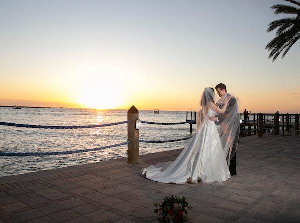 Gulf of Mexico - Sunset wedding photos - sunset wedding photos on clearwater beach
