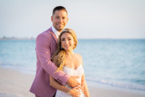 Bride and groom - bride and groom on beach - Gulf of Mexico - St Pete beach