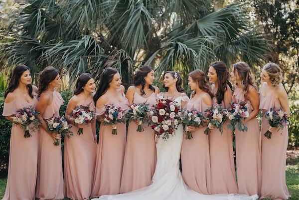 Florida wedding – Saint Petersburg Florida wedding – Saint Petersburg wedding – Greek wedding - Saint Petersburg Coliseum - bridal party - bride with bridal party - wedding party