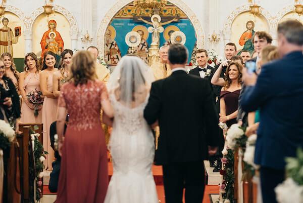 Florida wedding – Saint Petersburg Florida wedding – Saint Petersburg wedding – Greek wedding - Saint Petersburg Coliseum - bride's entrance - Greek Orthodox wedding ceremony