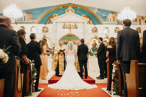 Florida wedding – Saint Petersburg Florida wedding – Saint Petersburg wedding – Greek wedding - Saint Petersburg Coliseum - Greek Orthodox wedding ceremony. - bride with mother and father