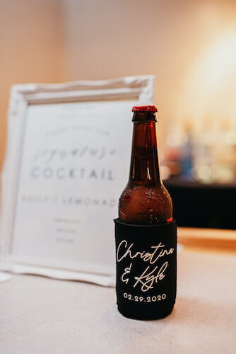 Florida wedding – Saint Petersburg Florida wedding – Saint Petersburg wedding – Greek wedding - custom beer koozie