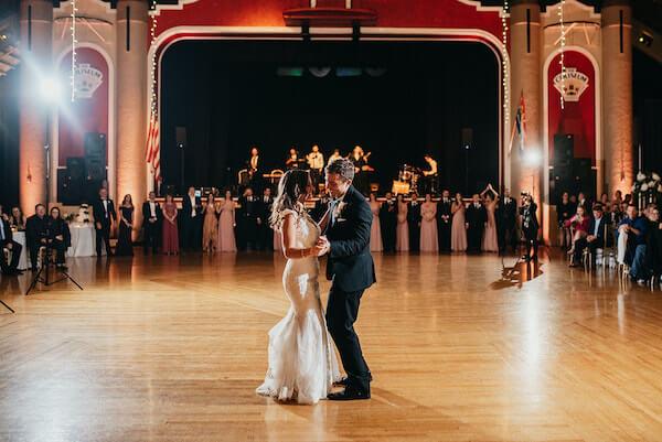 Florida wedding – Saint Petersburg Florida wedding – Saint Petersburg wedding – Greek wedding - Saint Petersburg Coliseum - first dance - bride and groom on dance floor