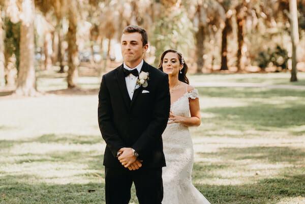 Florida wedding – Saint Petersburg Florida wedding – Saint Petersburg wedding – Greek wedding - bride and groom - first look