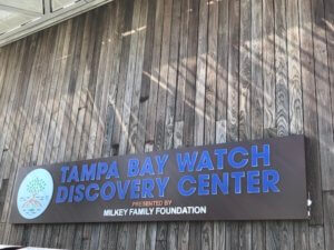 St Pete Pier - Tampa Bay Watch Discovery Center - Tampa Bay Watch Discovery Center sign