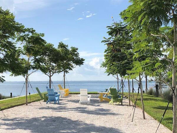 St Pete Pier - Saint Petersburg Florida - outdoor seating area along Tampa Bay