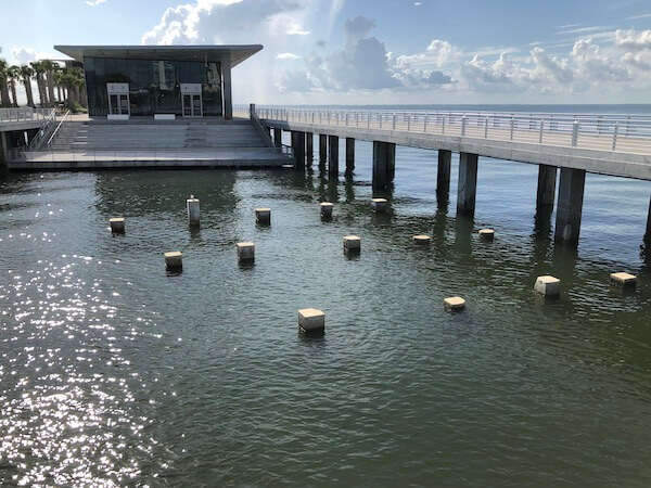 St Pete Pier - Tampa Bay Watch - Tampa Bay Watch's outdoor classroom - original columns from the 1926 Million Dollar Pier