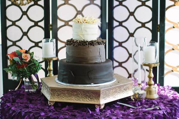 wedding cake against a beautiful Instagram worthy backdrop