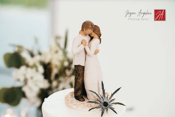 intimate wedding cake at Tampa  wedding reception