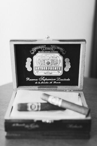 Tampa made Arturo Fuente cigars for a Tampa Cuban wedding