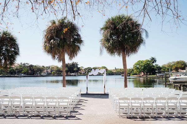 Waterfront wedding ceremony at the St Petersburg Women's Club