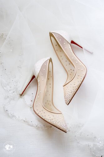 fairytale bride's Christian Louboutin wedding shoes