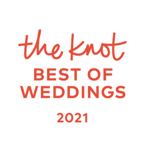 Wedding professional's badge for Best of Weddings 2021 by The Knot