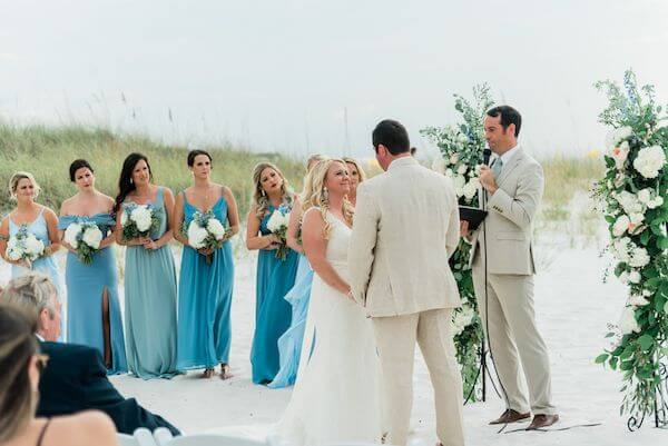Clearwater Beach destination wedding ceremony
