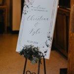 custom designed wedding welcome sign