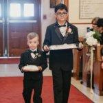 ring bearer and gift bearer at Saint Petersburg Greek Orthodox wedding