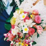 tropical Hawaiian bridal bouquet