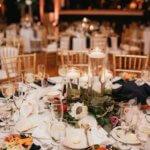 Saint Petersburg Coliseum wedding reception with burgundy pink and white decor