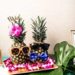 bride and groom pineapples