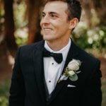 Saint Petersburg groom wwaiting for his first look