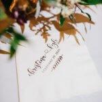 custom monogrammed napkins at Saint Petersburg Coliseum wedding