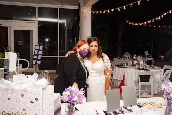 Clearwater bride with wedding planner Tammy Waterman of Special Moments Event Planning