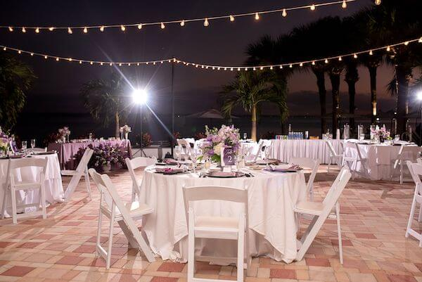 Socially distant intimate Sand key wedding