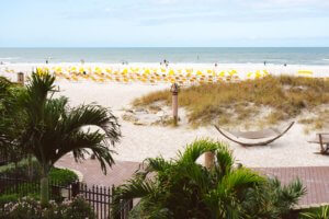 view of Clearwater Beach from the Opal Sands Hotel