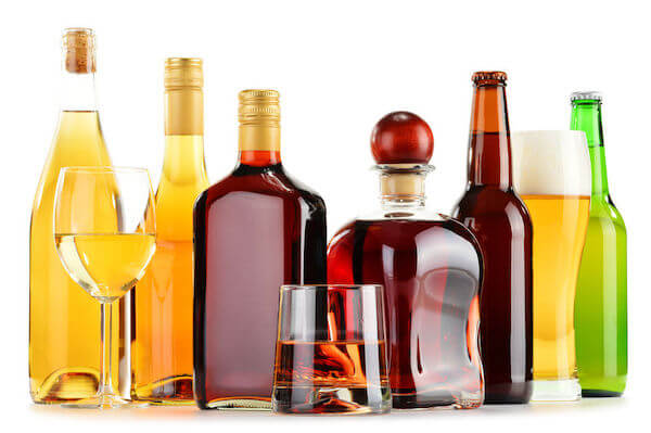 display of upscale liquor to cater to your wedding guests