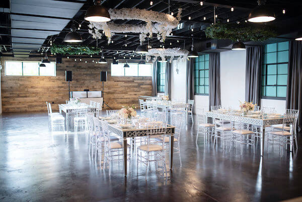 an intimate wedding reception inside of The Blue Ribbon Room at Madeira Beach's The West Events