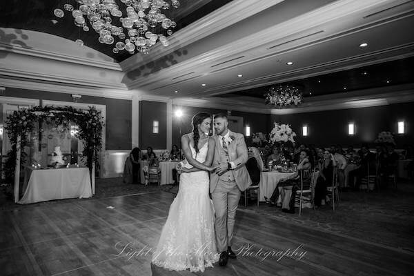 newlyweds during their first dance at the Hyatt Clearwater Beach