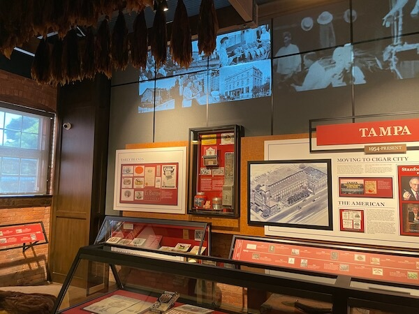 part of the museum in the JC Newman Cigar Co factory in Tampa Florida