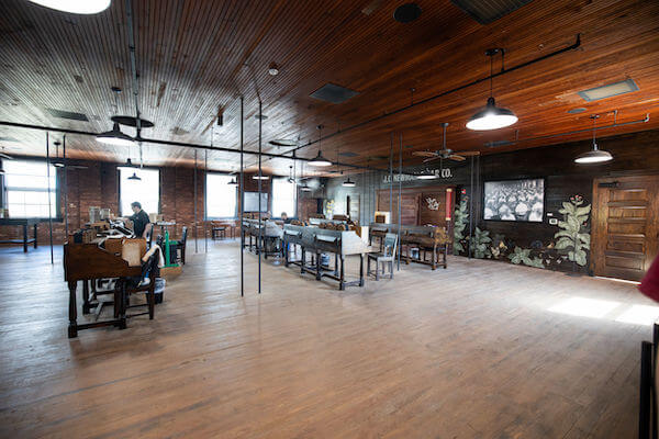 3rd floor hand rolling lounge in the JC Newman Cigar Co factory in Tampa