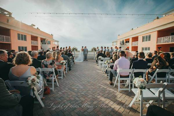 wedding ceremony on the Sky Terrace at the Hyatt Clearwater Beach