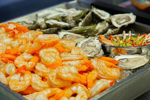 Seafood Raw Bar at an Opal Sands Resort wedding