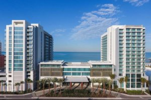 Outside view of the Wyndham Grand Clearwater Beach